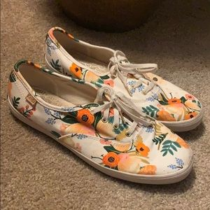 Keds Rifle Paper Co Floral Cute Feminine Shoes 7.5